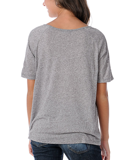 Obey Anchor Heart Heather Grey Burnout T-Shirt