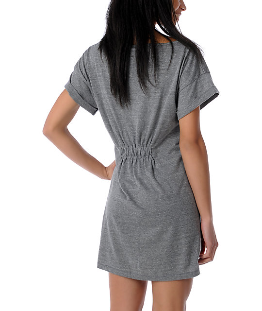 Obey Anchor Spray Grey T-Shirt Dress