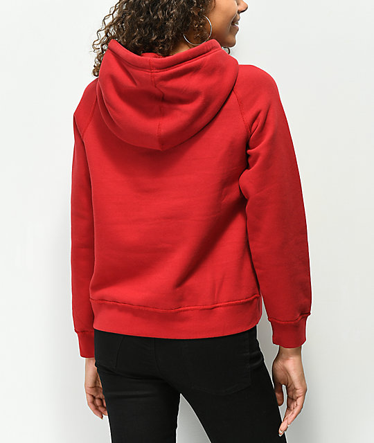 Obey Anna Red Hoodie