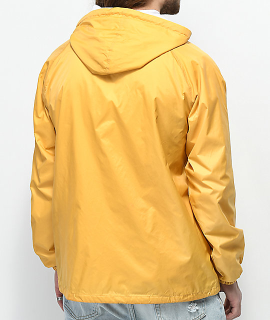 Obey Anyway Yellow Hooded Coaches Jacket
