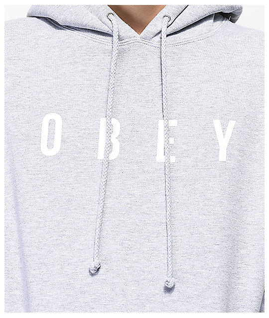 Obey Anyway sudadera con capucha gris