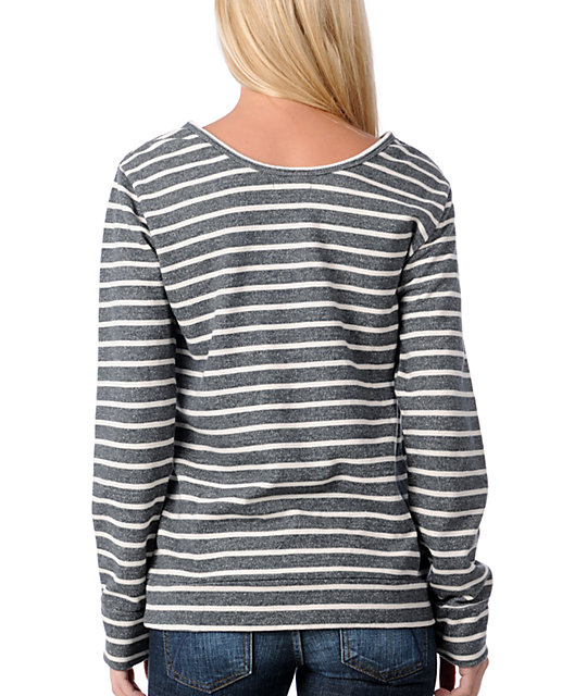 Obey Archery Charcoal Stripe Pullover Sweatshirt