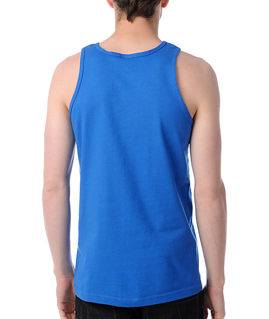 Obey Bar Logo Blue Tank Top