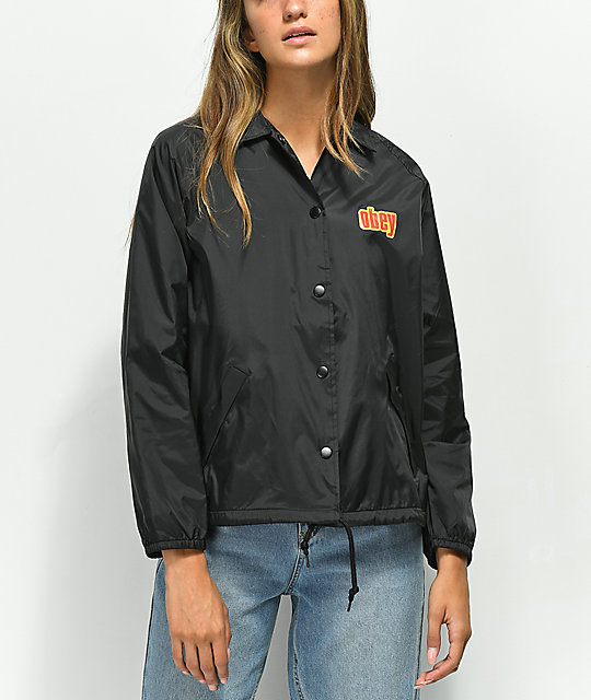 Obey Be Mine Black Coaches Jacket