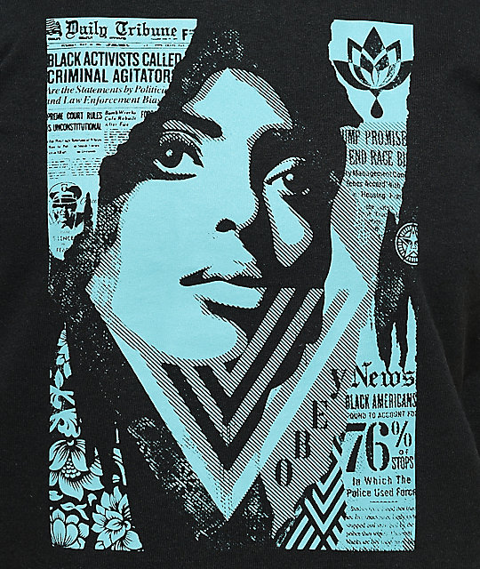 Obey Bias By Numbers Black T-Shirt