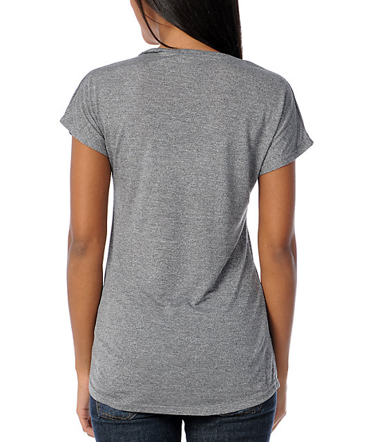 Obey Books Dissent Grey Mock Dolman Top