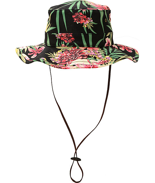 d64c863e1f0 ... Obey Boonts Floral Fisherman Hat