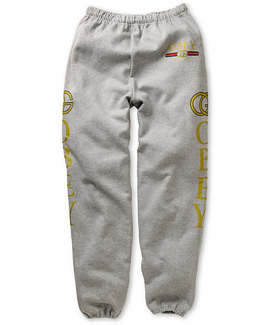 Obey Bootleg Heather Grey Sweatpants