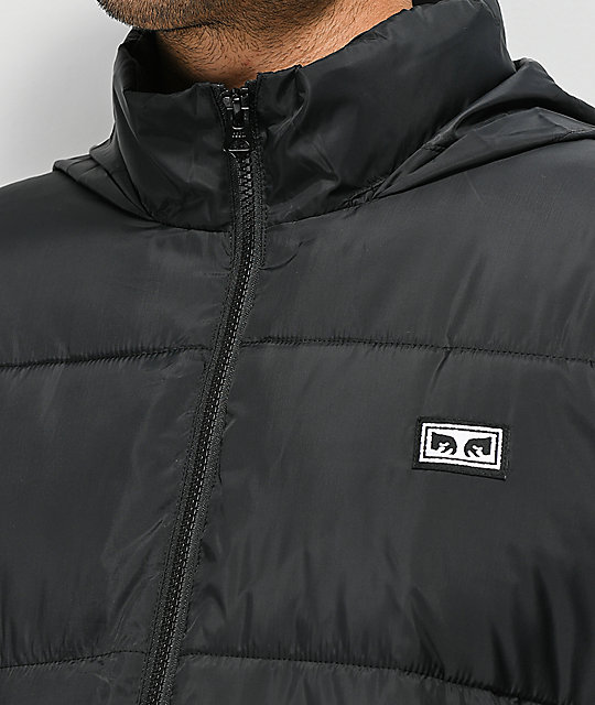 Obey Bouncer Black Puffer Jacket