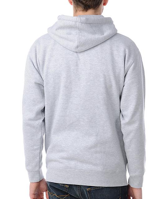 Obey Box Logo Grey Pullover Hoodie | Zumiez