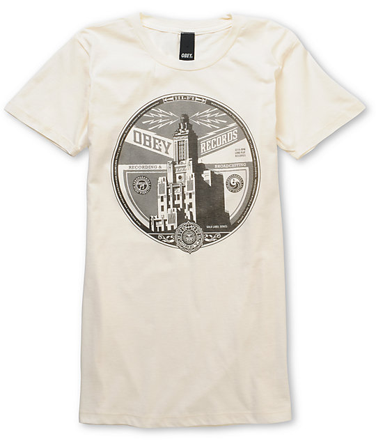 Obey Broadcasting White Classic T-Shirt
