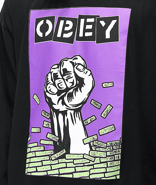Obey Bust Out Black Long Sleeve T-Shirt