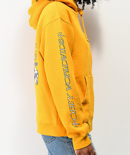 Obey Butterfly Yellow Hoodie