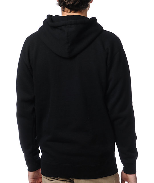 Obey Camo Font Black Pullover Hoodie