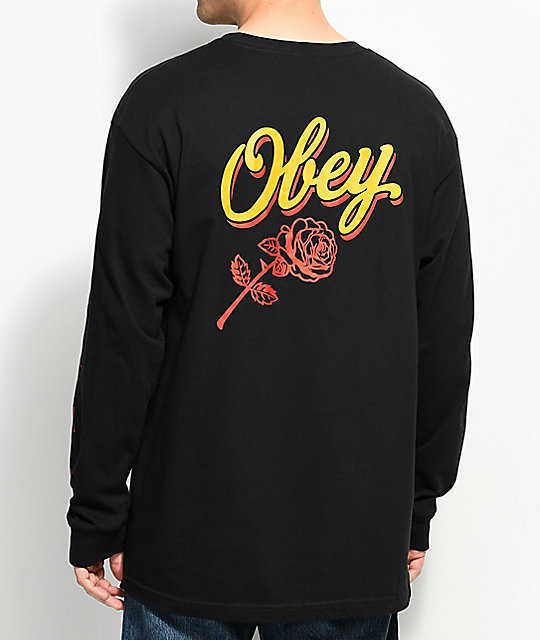 Obey Careless Whisper 2 camiseta negra de manga larga