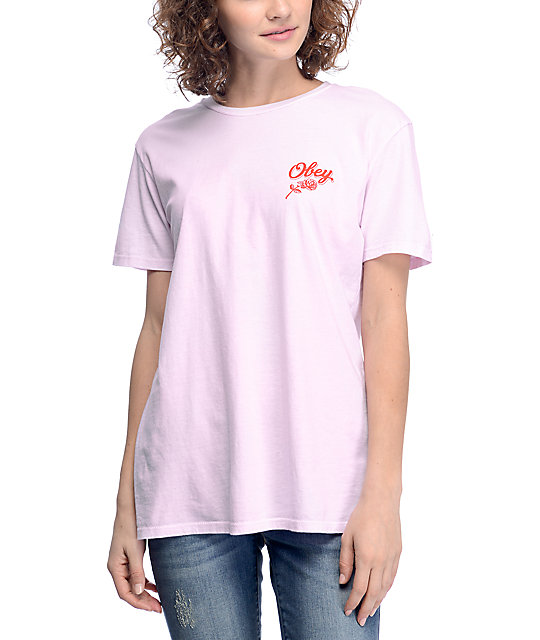 Obey Careless Whispers Pink T-Shirt