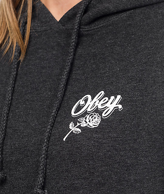 Obey Careless Whispers sudadera con capucha en color carbón