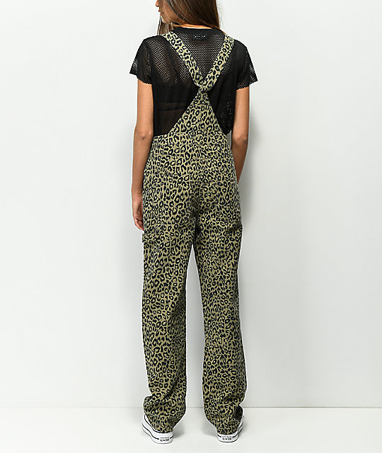 Obey Casbah Khaki Leopard Overalls