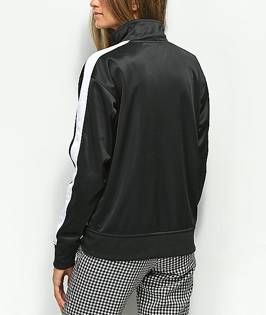 Obey Cashed Out Black Zip Up Track Jacket