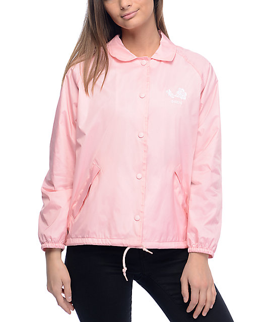 Obey Caviar Pink Coaches Jacket