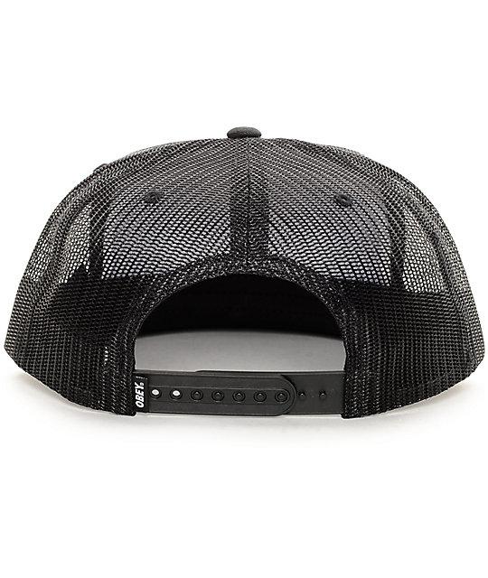 379d502f727 ... Obey Chains Black Trucker Hat