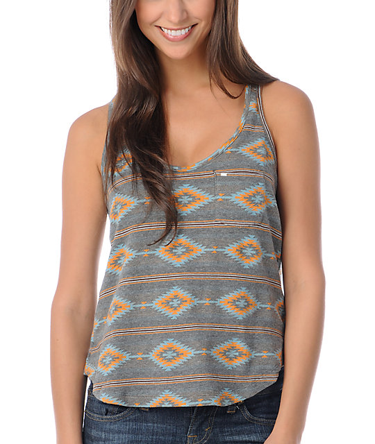 Obey Charcoal Tribal Tank Top