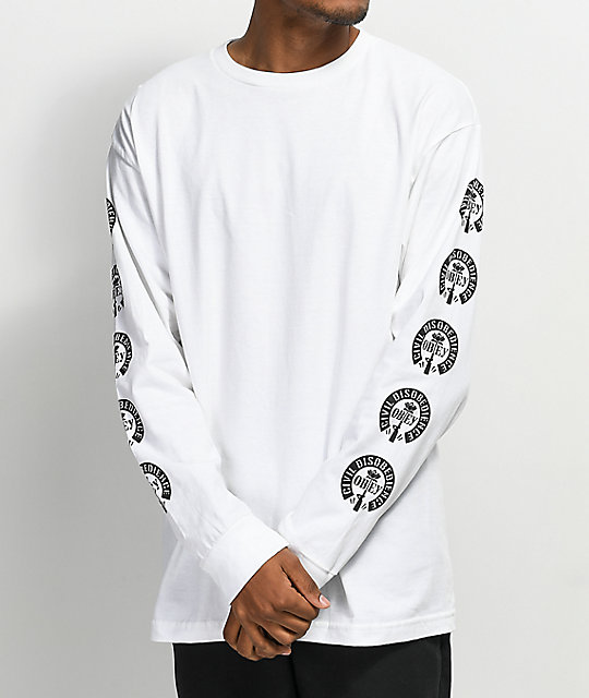 Obey Civil Disobedience White Long Sleeve T-Shirt