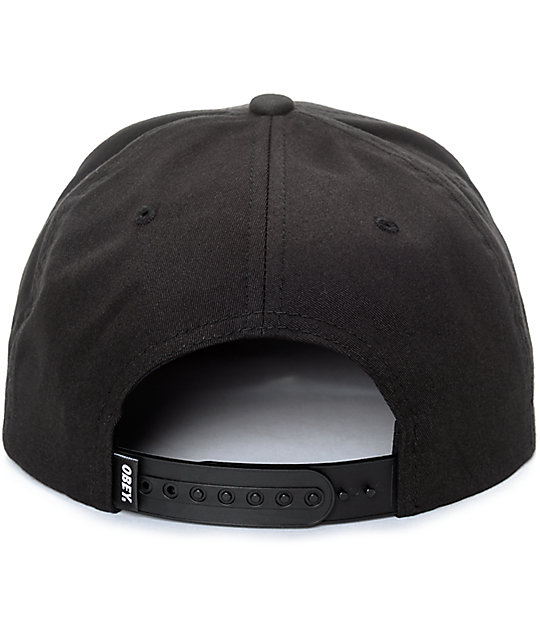Obey Classic Patch Black & White Snapback Hat