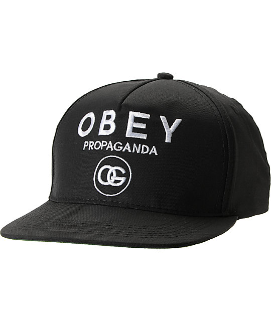 Obey Coco Black Snapback Hat