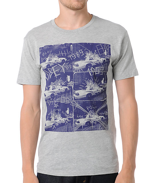 Obey Combat Collage Grey T-Shirt