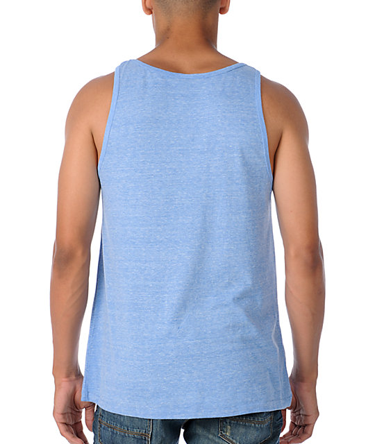 Obey Comet Heather Blue Tank Top