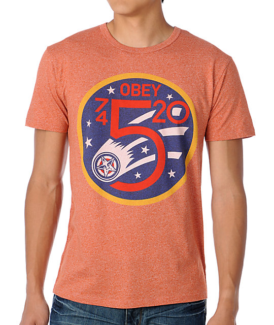 Obey Comet Orange T-Shirt