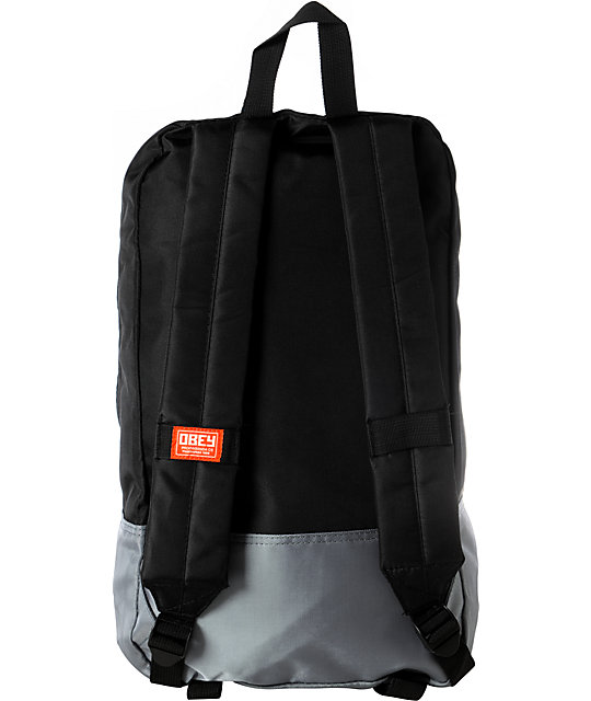 Obey Commuter Black & Grey Laptop Backpack