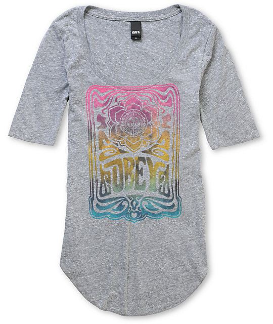 Obey Concert Grey Dance T-Shirt