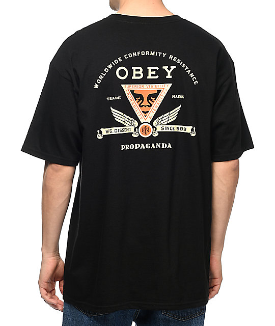 Obey Conformity Resistance Black T-Shirt