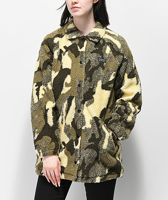 Obey Covert Camo Sherpa Jacket