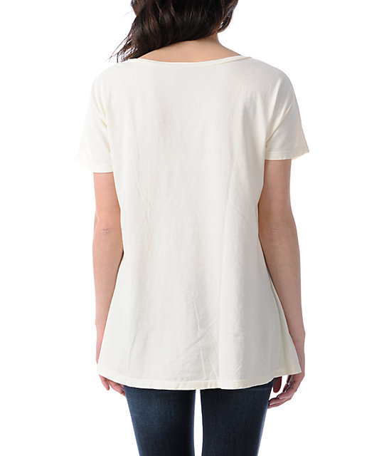 Obey Coyote Ripper Dolman Natural White T-Shirt