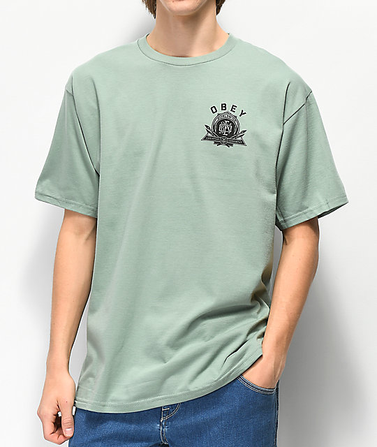 Obey Creative Dissent Sage Green T-Shirt