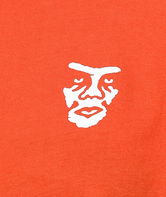 Obey Creeper Static Poppy Orange T-Shirt