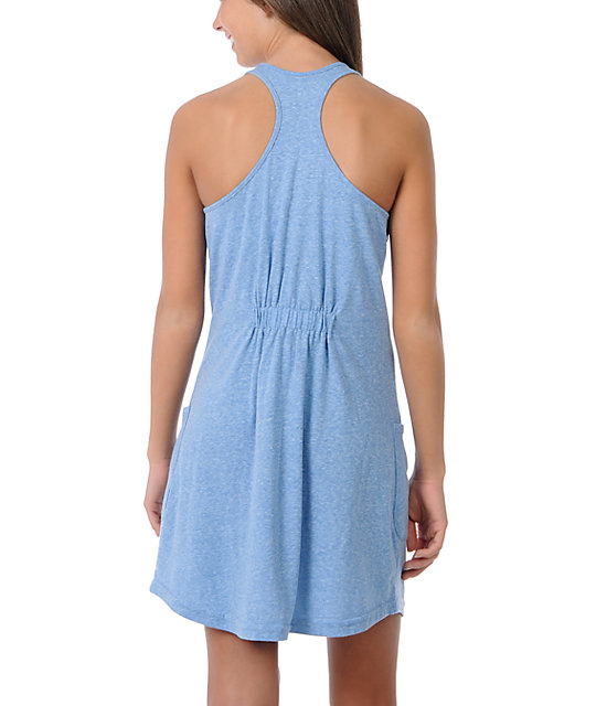 Obey Crest Blue Tank Dress