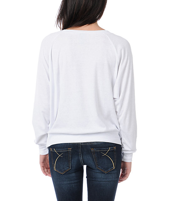 Obey Crossed Arrows White Raglan Top