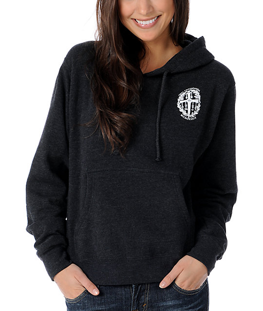 Obey Dagger Crest Charcoal Pullover Hoodie