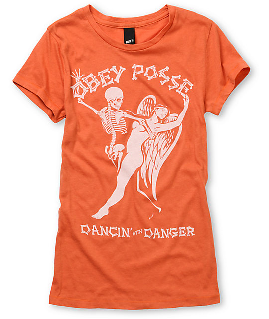 Obey Dancing With Danger Orange T-Shirt