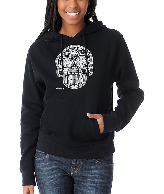 Obey Day Of The Dead Black Pullover Hoodie