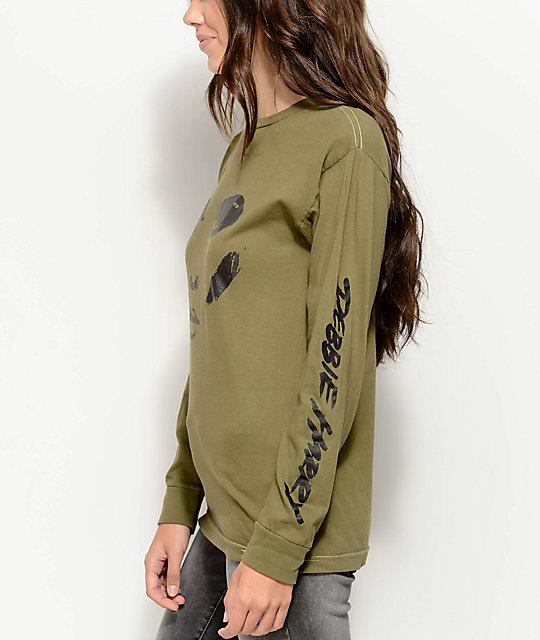 7446ec944 Obey Debbie Harry Visage Green Long Sleeve T-Shirt | Zumiez