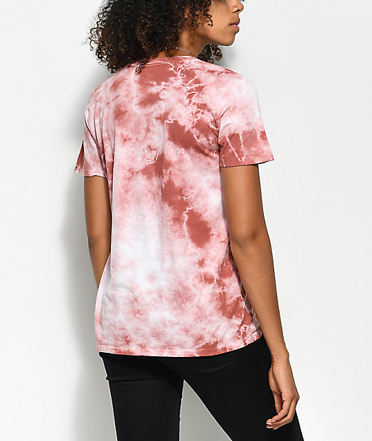 Obey Defiant Dusty Rose Tie Dye T-Shirt