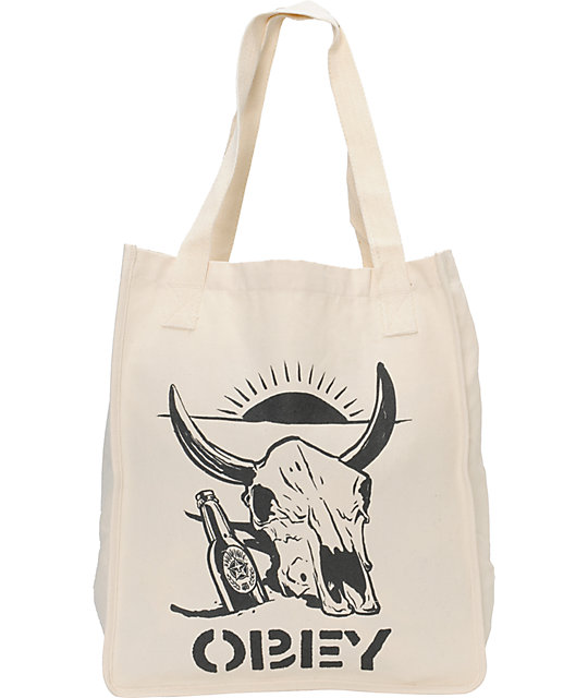 Obey Desert Party Natural Tote Bag