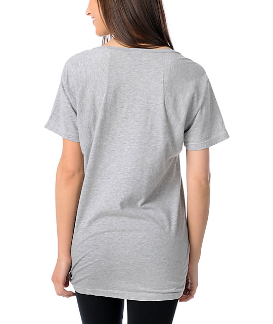 Obey Devious Scumbags Heather Grey Dolman T-Shirt