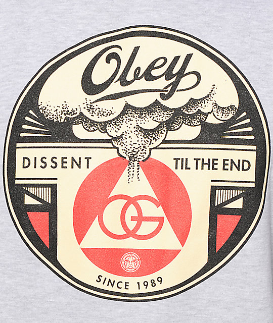 Obey Dissent Til The End sudadera