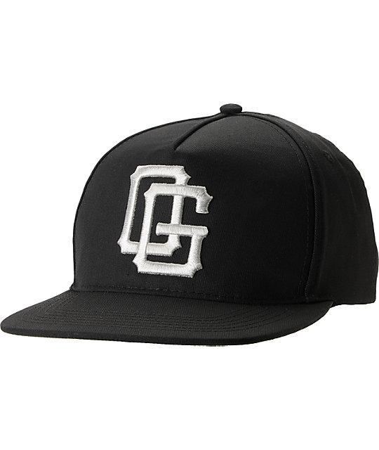 Obey Double OG Black Snapback Hat  ceebe6c0e53